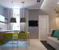 Apartment For A Young Family For Living Area White Door