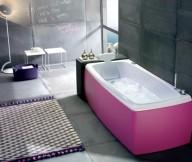 Beautiful Bathtubs Design Pink Bathub Grey Wall