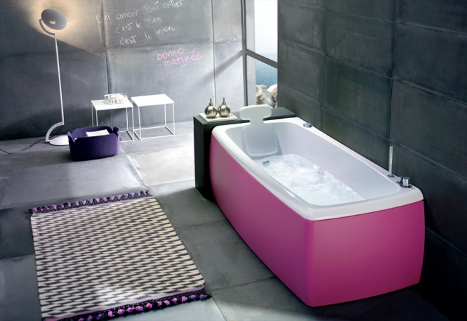 Beautiful Bathtubs Design Pink Bathub Grey Wall