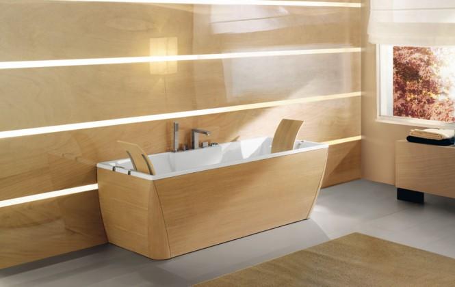 Beautiful Bathtubs Design Timber Finish Bathtub And Bathroom