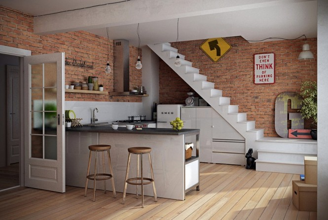Bespoke Kitchen Units Open Kitchen Shelves Wooden Floor