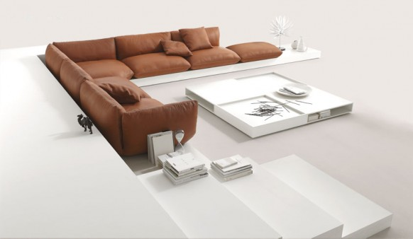 Biege Sofa Colorful Living Room Unique White Table