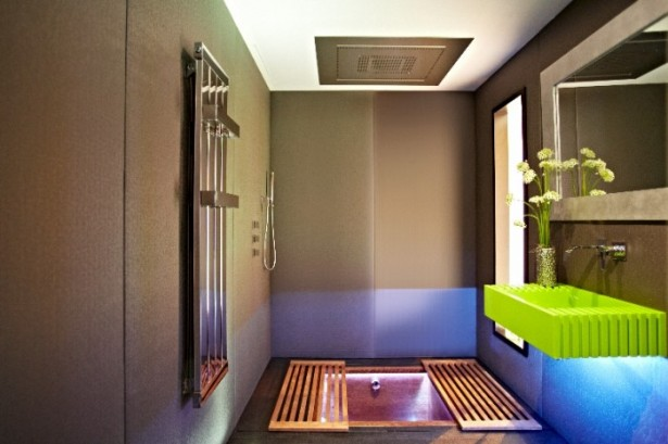 Big Design In A Small Space For Japanese Shower Green Sink