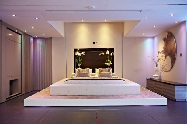 Big Design In A Small Space For Modern Bedroom Calm Lighting