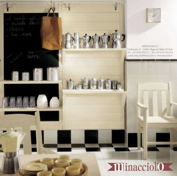 Black And White Tile Kitchen Floor Country Kitchens With Italian Style