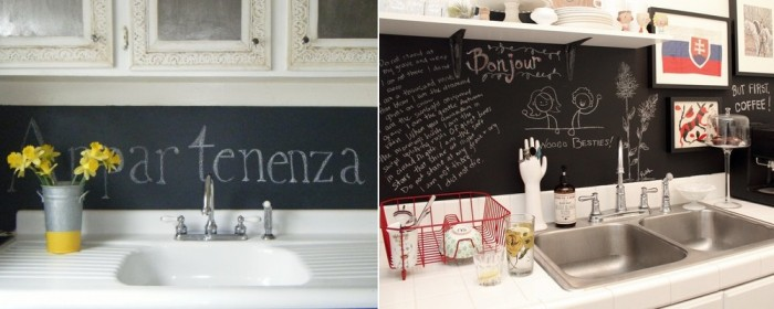 Black Board Backsplash Kitchen Backsplash Ideas White Sink