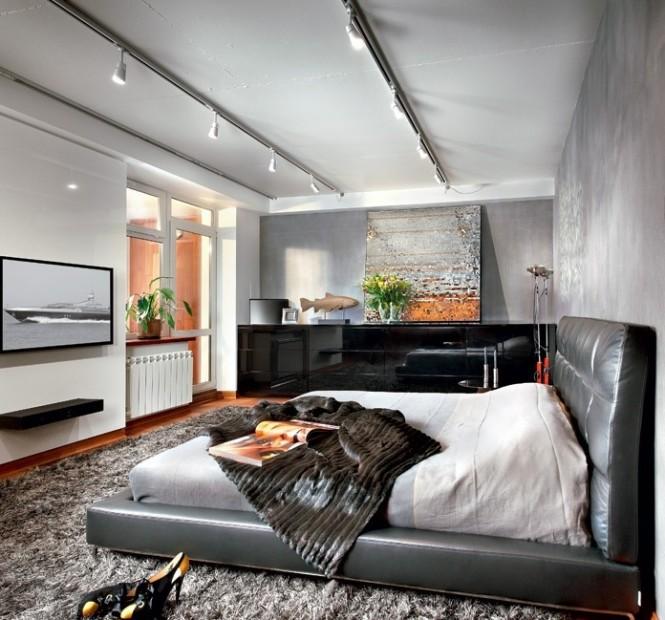 Black Leather Platform Bed Artistic Interior Renders Ideas