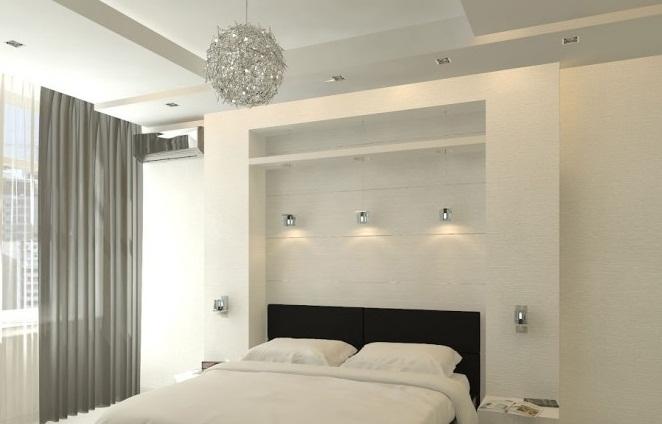 Black White Bedroom Creative Home Design Grey Curtain