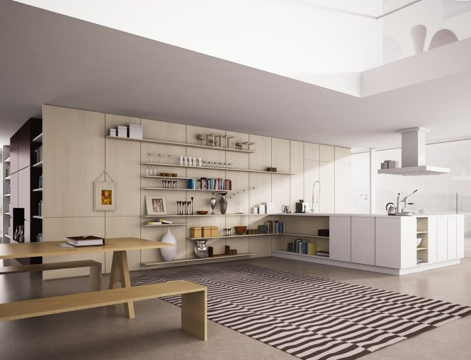 Black White Striped Rug Open Kitchen Shelves Black White Stripes Carpet