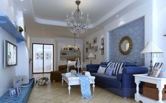 Blue White Living Room Chandelier Chic Modern Living Rooms