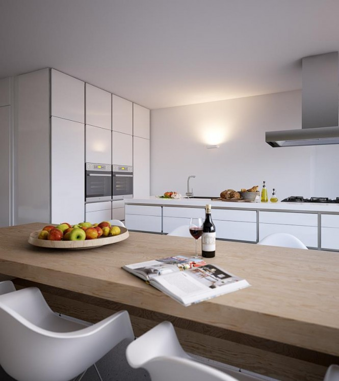 Bright And Beautiful Home White Gloss Kitchen