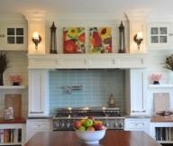 Brilliant Blue Tile Backsplash Kitchen Backsplash Ideas