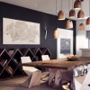 Brilliant Design Work Rustic Modern Dining Table Grey Wall