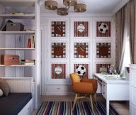 Brilliant Design Work Traditional Boys Room Orange Chair