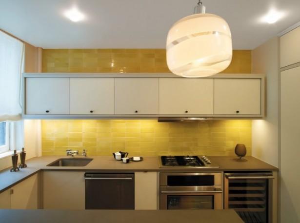Brilliant Yellow Tile Backsplash Kitchen Backsplash Ideas