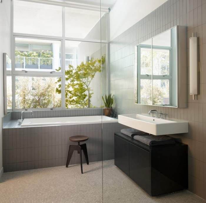 Buyer Profiles Inspire Modern Bathroom Grey Glass Sliding Door