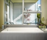 Buyer Profiles Inspire Modern Tub Grey Tile White Sink