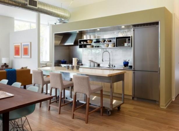 Buyer Profiles Inspire Stainless Steel Backsplash Wooden Floor