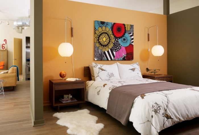 Buyer Profiles Inspire Tangerine Bedroom Decor White Pillows