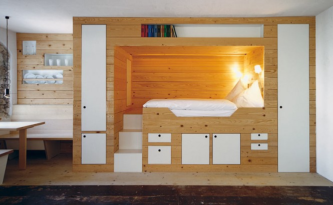 Cabin Bed Storage The Berge Winter Retreat White Bed