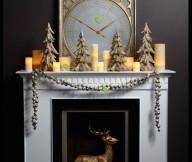 Christmas Mantel Decor Ideas Mantel Decor Inspiration Grey Wall
