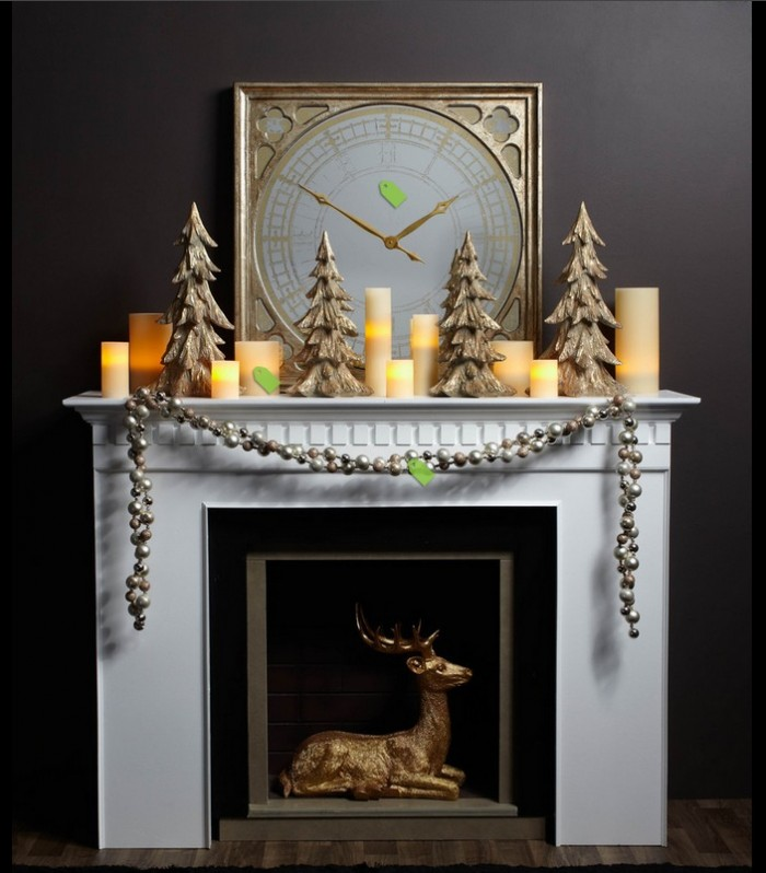 Christmas Mantel Decor Ideas Mantel Decor Inspiration Grey Wall