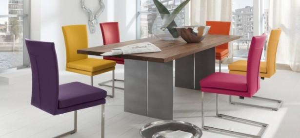 Colorful Dining Room Set Modern Colourfull Chairs Modern Dining Rooms
