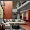 Concrete Wood Interior Grey Rug Artistic Interior Renders
