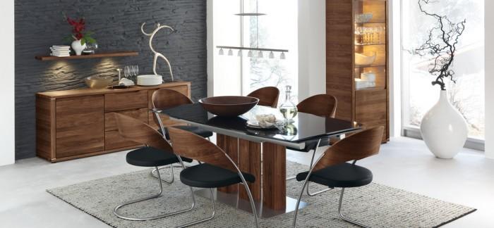Contemporary Black Dining Set Grey Rug Modern Dining Rooms KVRiver