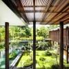 Contemporary Garden Serene Sun House Green Lawn