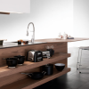 Contemporary Kitchen Kitchen Island Designs Wooden Cabinet