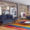 Contemporary Living Rooms City Loft Decor Ideas Colourfull Rug