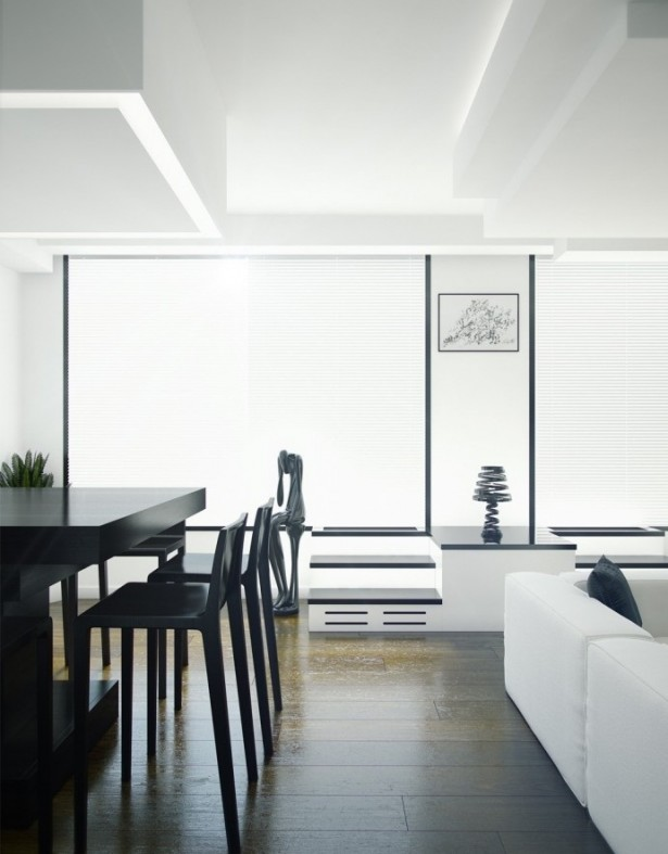 Contemporary Living Rooms Elegant Black And White Modern Decor