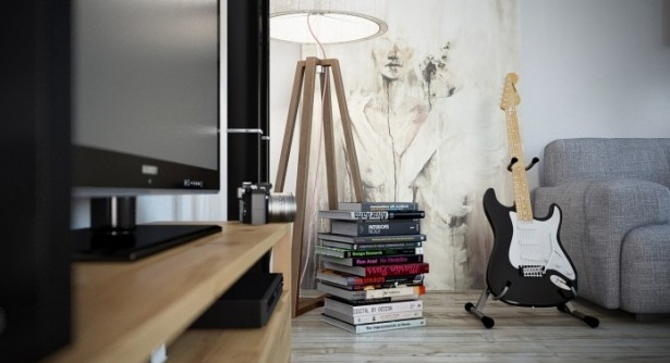 Contemporary Living Rooms Modern Artists Loft Wooden Floor