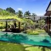 Contemporary Outdoor Space Green Lawn Serene Sun House