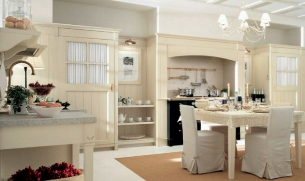 Country Kitchens With Italian Style Farmhouse Chic Decor