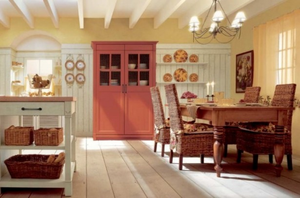 Country Kitchens With Italian Style Yellow Country Kitchen