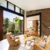 Courtyards Design Ideas Sliding Doors To Courtyard Glass Wall