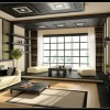 Cream Black Living Room Decor Japanesse Style Modern Living Rooms