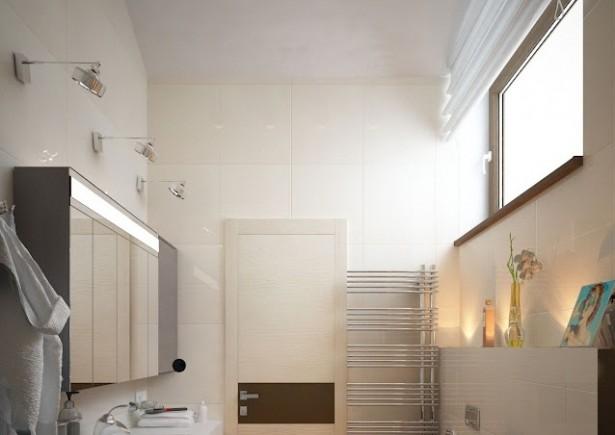 Creative Home Design Contemporary-bathroom-layout white rug