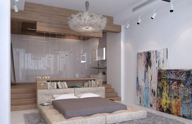 Creative Home Design For Modern Platform Bed Grey Rug