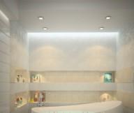 Creative Home Design For Modern White Bathroom Romantic Theme
