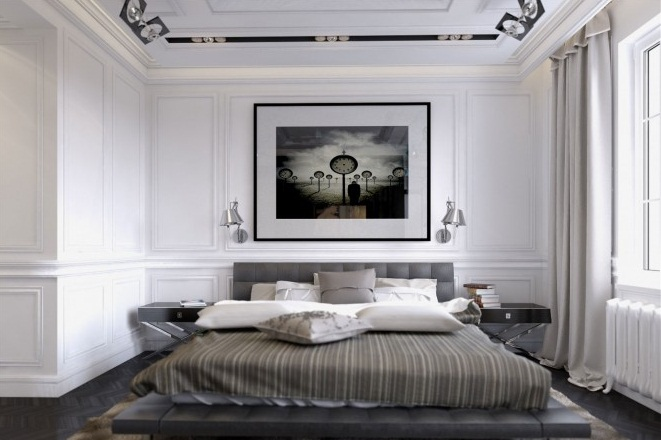 Creative Home Design For Muted Bedroom White Wall