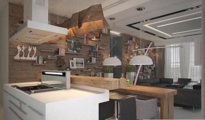 Creative Home Design For Open Kitchen Side Living Room