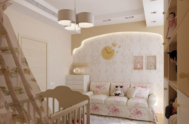 Creative Home Design For Pink Traditional Nursery White Rug