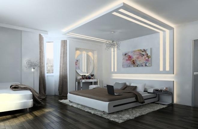 Creative Home Design For White Brown Bedroom Smart Lighting