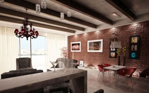 Creative Home Design Red-exposed-brick-wall-brick wall