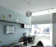 Creative Home DesignBlack Blue Living Room Unique Lamp