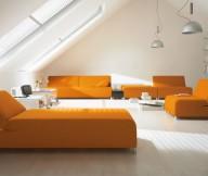 Creative Lamp Orange Sofa Colorful Living Room