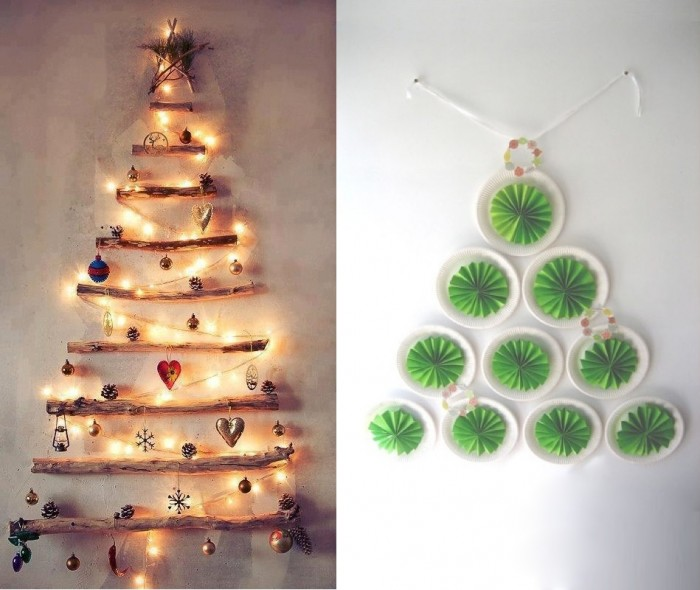 diy christmas trees walls indoor decor ideas